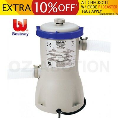 800gal Bestway Flowclear Swimming Pool Filter Water Pump 3028L/h