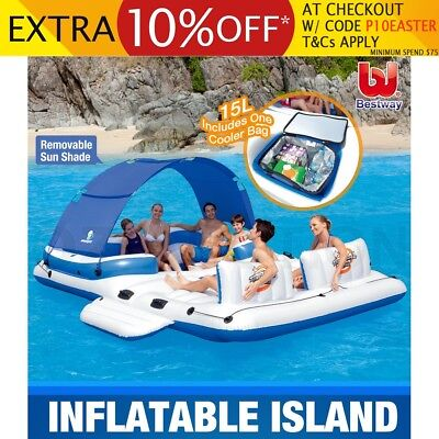 Bestway Inflatable Tropical Breeze Floating Island Raft Removeable Drinks Cooler