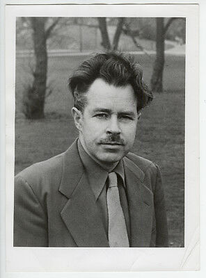 Robert Frank VINTAGE 1951 STAMPED Wright Morris Portrait VERY RARE Photo
