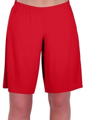 Womens Plus Sizes Jersey Relaxed Comfort Elasticized Flexi Stretch Ladies Shorts