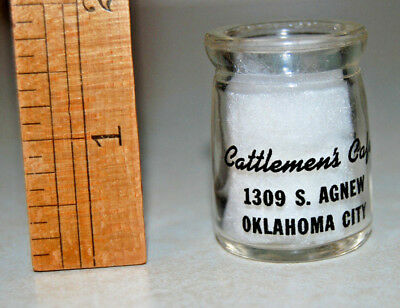 Cream Milk Bottle CATTLEMEN's CAFE Oklahoma City *1-sided black print*