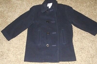 Florence Eiseman Boy's or Girl's Classic Navy Blue Pea Coat Size 5