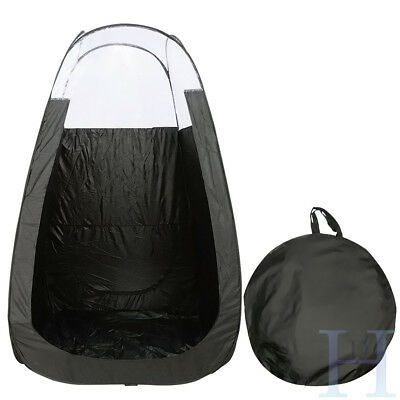Black Pop Up Spray Tanning Tent Tan Booth Mobile Fake Solar Portable With Bag