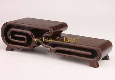 Senior Wooden Snuff Bottle Display Base Stand Handicraft Collectable