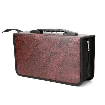 128 Sleeve Faux Leather Disc Storage Bag CD DVD VCD Organizer Holder Container