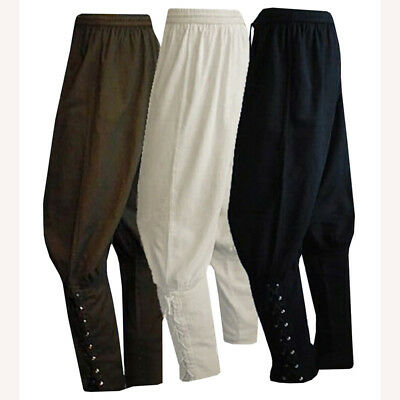Men's Viking Pants SCA Medieval Reenactment Pants Renaissance Bandage Trousers