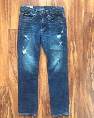 Abercrombie Boy's AF Destroyed Skinny Jeans Size 14 EEUC