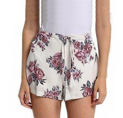 WHITE PINK ALLY FLORAL SHORTS, BNWT FREE POST Size 10