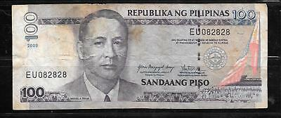 PHILIPPINES #194b 2009 VG CIRC 100 PISO BANKNOTE PAPER MONEY CURRENCY BILL NOTE