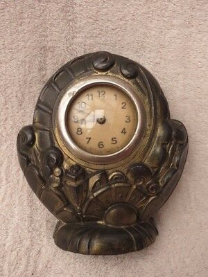 Vintage French Cast Spelter 30 Hour Clock For Spares Or Repair
