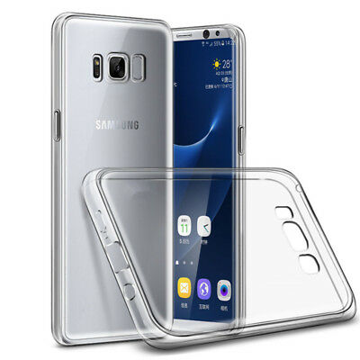 Clear Transparent Silicone Gel Rubber Case Cover For Samsung Galaxy S8 & S8 Plus
