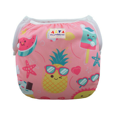 AlvaBaby Girl Swim Diaper waterproof&comfortable&breathable printed with snaps