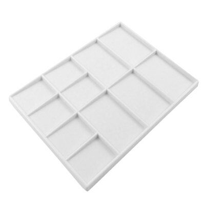 Artists Flat Rectangular Plastic Mixing Palette with 11 Wells