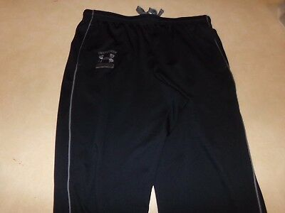 Mens Under Armour Athletic Pants Black/Grey Size XL Loose