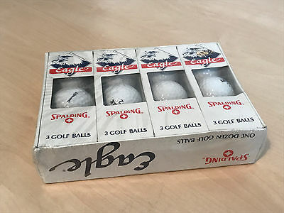 Unused (Still Sealed) Box of 12 x Vintage Spalding Eagle Golf Balls