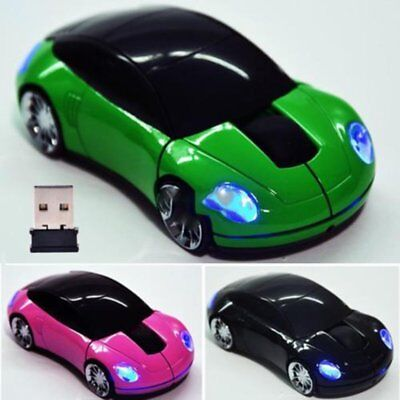 Cool Car 2.4GHz Wireless Cordless Optical Mouse Mice USB Receiver for PC Laptop