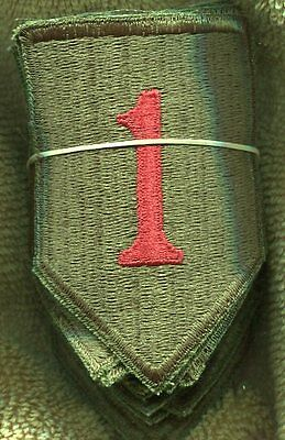 Lot of 20 US Army Early Vietnam Era 1st Infantry Division Color Patch Cut Edge