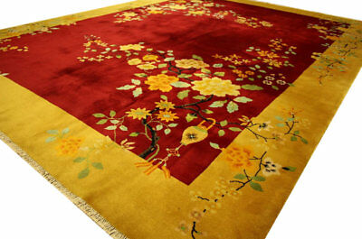 Rug Genuine Oriental China Fine Antique 365x280 cm Hand Knotted 100% Wool