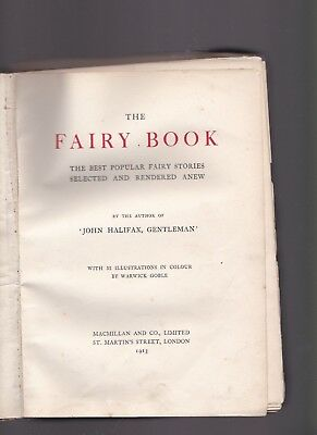 """""""The Fairy Book"""" 1913. (1St Edition With Illustrations In Colour) Warwick Goble"""