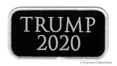 RE-ELECT DONALD TRUMP 2020 IRON-ON PATCH embroidered PRESIDENT ELECTION MAGA new