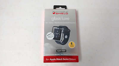 ZAGG Glass Luxe Screen Protector Apple Watch Series 2 42mm - Black READ