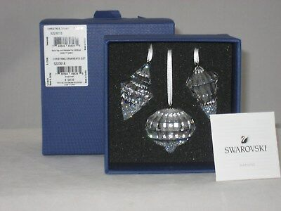 Swarovski Christmas Ornaments (Set Of 3) 5223618 NEW IN BOX