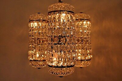 """Mid Century Spectacular 6 Light Chandelier """"waterford"""" Signed- Perfect Condition"""