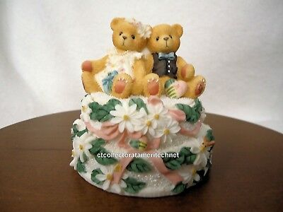 Cherished Teddies Covered Box Wedding 1999  NIB