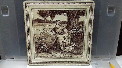 Antique mintons tile. china works.8'' teapot stand. no 2164