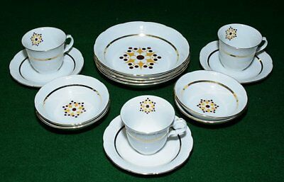 Fine Bohemian China CLAUDIA  14 PIECE made in Czechoslovakia Vtg