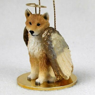 Shiba Inu Dog ANGEL Tiny One Ornament Figurine Statue