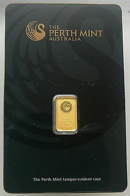 Sealed Perth Mint 1 Gram 24K Gold Bar .9999