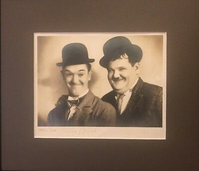 Genuine Original Laurel And Hardy Stax Studio Signed Photograph Autographs Film