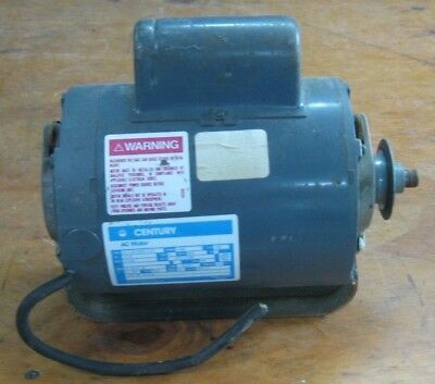 Century electric motor for table saw or power tool - 1/3 HP 1725 RPM 115/230 V