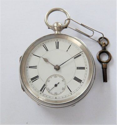 1888 Silver Cased Chain Driven Fusee Pocket Watch In Working Order