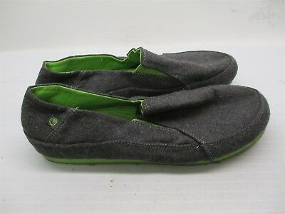 OCEAN MINDED #A952 Men's Size 10 Casual Slip On Wool Gray Shoes