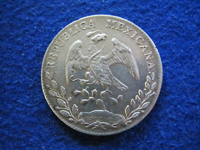 1887 Cn Mexico Silver 8 Reales - Culiacan Mint - Free U S Shipping