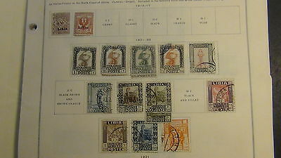 Libya  stamp collection on Scott International pages to '79