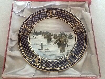 Spode Operation Overlord D Day Commemorative Plate - Omaha Beach