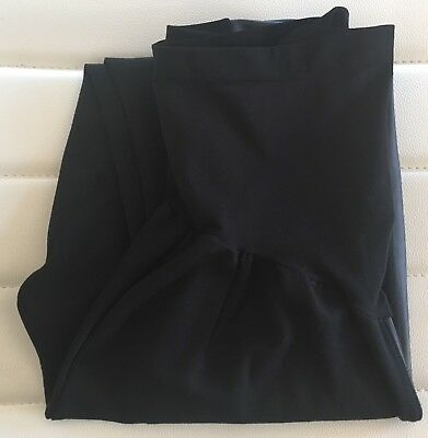 *A PEA IN A POD Maternity Black Leggings Faux Leather Pants Size S*