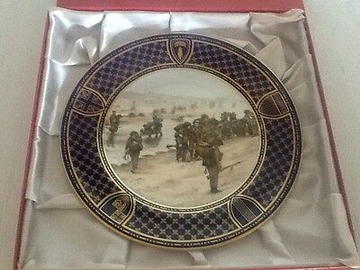 Spode Operation Overlord D Day Commemorative Plate - Sword Beach