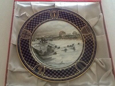 Spode Operation Overlord D Day Commemorative Plate - Juno Beach
