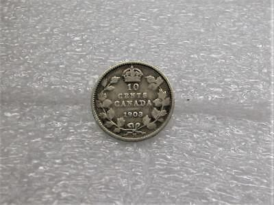 1903H 1903 H 10 Ten Cents Canada Silver Dime Canadian 10c Coin King Edward VII