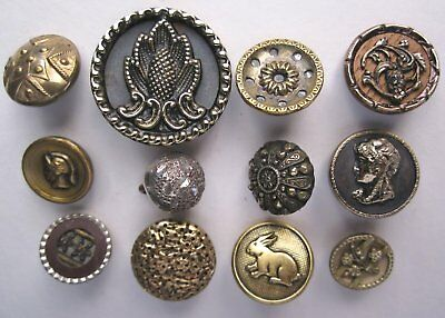 Small lot of 12 Antique Buttons