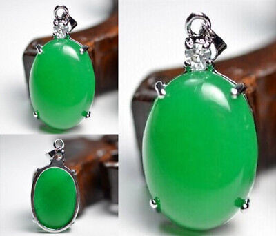 Charming Green Jade  crystal  gem Lucky Pendant Chinese jade carving
