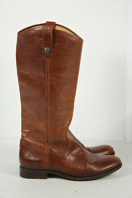 Frye Brown Round Toe Slip On Knee High Boots Size 10B