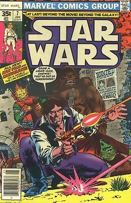 Comic - Star Wars - Hans Solo & Chewbacca, No.7 1977 USA.