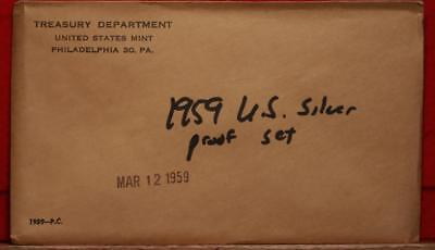 Uncirculated 1959 United States Silver Proof Set Free S/H!