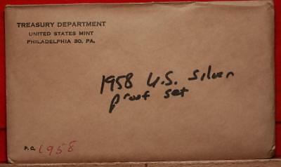 Uncirculated 1958 United States Silver Proof Set Free S/H!