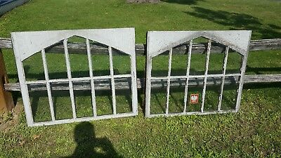 Antique Arch Top Window Wood  Shabby rare